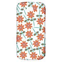 Clipart Floral Seamless Flower Leaf Samsung Galaxy S3 S Iii Classic Hardshell Back Case by Jojostore
