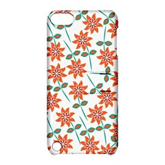 Clipart Floral Seamless Flower Leaf Apple Ipod Touch 5 Hardshell Case With Stand by Jojostore
