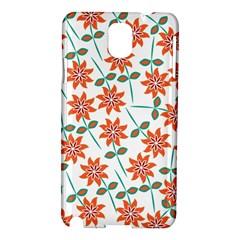 Clipart Floral Seamless Flower Leaf Samsung Galaxy Note 3 N9005 Hardshell Case by Jojostore