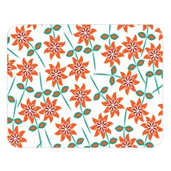 Clipart Floral Seamless Flower Leaf Double Sided Flano Blanket (large)  by Jojostore