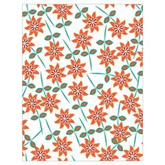 Clipart Floral Seamless Flower Leaf Drawstring Bag (large) by Jojostore