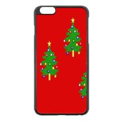 Christmas Trees Apple Iphone 6 Plus/6s Plus Black Enamel Case by Nexatart