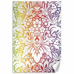 Cool Flower Rainbow Blue Purple Red Orange Yellow Green Canvas 20  X 30   by Jojostore