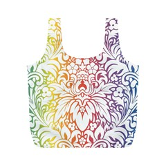 Cool Flower Rainbow Blue Purple Red Orange Yellow Green Full Print Recycle Bags (m)  by Jojostore