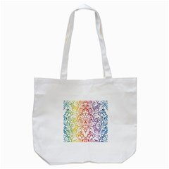Cool Flower Rainbow Blue Purple Red Orange Yellow Green Tote Bag (white) by Jojostore