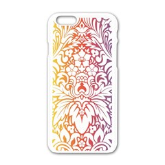 Cool Flower Rainbow Blue Purple Red Orange Yellow Green Apple Iphone 6/6s White Enamel Case by Jojostore