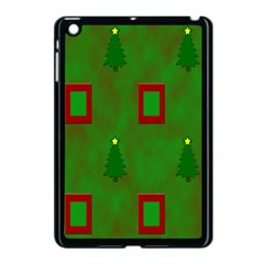 Christmas Trees And Boxes Background Apple Ipad Mini Case (black) by Nexatart