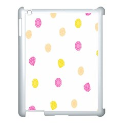 Diamond Pink Yellow Apple Ipad 3/4 Case (white) by Jojostore