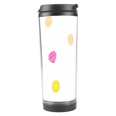 Diamond Pink Yellow Travel Tumbler by Jojostore
