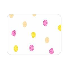 Diamond Pink Yellow Double Sided Flano Blanket (mini)  by Jojostore