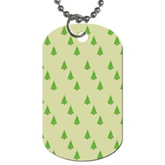 Christmas Wrapping Paper Pattern Dog Tag (one Side)