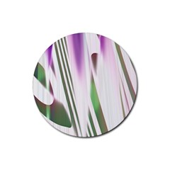 Colored Pattern Rubber Round Coaster (4 Pack)  by Nexatart