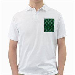 Egyptianpattern Colour Green Golf Shirts by Jojostore