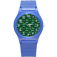 Egyptianpattern Colour Green Round Plastic Sport Watch (s) by Jojostore