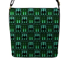 Egyptianpattern Colour Green Flap Messenger Bag (l)  by Jojostore