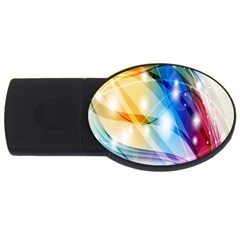 Colour Abstract Usb Flash Drive Oval (2 Gb) by Nexatart