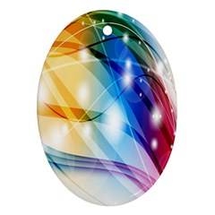 Colour Abstract Oval Ornament (two Sides) by Nexatart