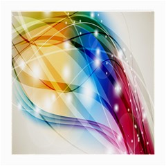 Colour Abstract Medium Glasses Cloth by Nexatart
