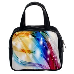 Colour Abstract Classic Handbags (2 Sides) by Nexatart