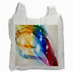 Colour Abstract Recycle Bag (one Side) by Nexatart