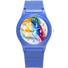 Colour Abstract Round Plastic Sport Watch (s) by Nexatart