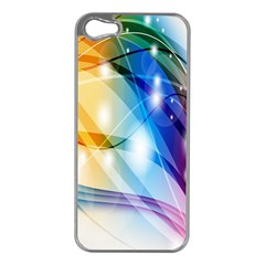 Colour Abstract Apple Iphone 5 Case (silver) by Nexatart
