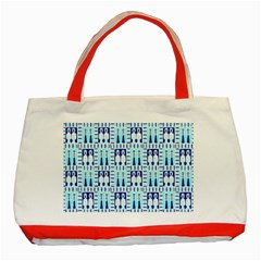 Egyptianpattern Colour Blue Classic Tote Bag (red) by Jojostore