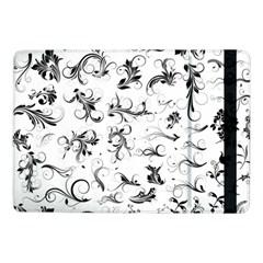 Flower Floral Black Leaf Samsung Galaxy Tab Pro 10 1  Flip Case by Jojostore