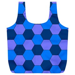 Four Colour Theorem Blue Grey Full Print Recycle Bags (l)  by Jojostore