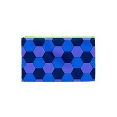 Four Colour Theorem Blue Grey Cosmetic Bag (xs) by Jojostore