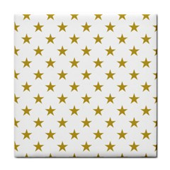 Gold Stars Tile Coasters by Jojostore