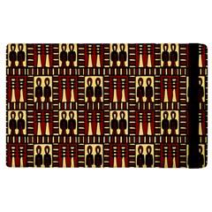 Egyptianpattern Colour Red Apple Ipad 2 Flip Case by Jojostore