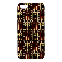 Egyptianpattern Colour Red Apple Iphone 5 Premium Hardshell Case by Jojostore