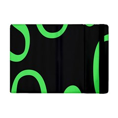 Green Rings Black Ipad Mini 2 Flip Cases