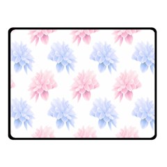 Flower Blue Pink Fleece Blanket (Small) by Jojostore