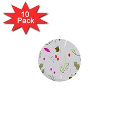 High Res Leaf Flower Fruit 1  Mini Buttons (10 Pack)  by Jojostore
