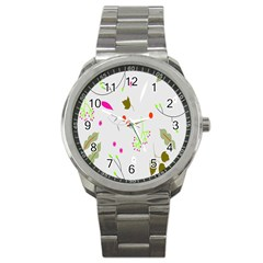 High Res Leaf Flower Fruit Sport Metal Watch by Jojostore