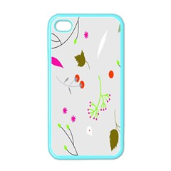 High Res Leaf Flower Fruit Apple Iphone 4 Case (color) by Jojostore
