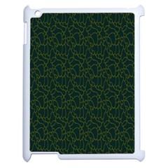 Grid Background Green Apple Ipad 2 Case (white) by Jojostore