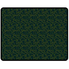 Grid Background Green Double Sided Fleece Blanket (medium)  by Jojostore
