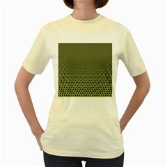 Hexagon Green Women s Yellow T Shirt
