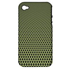 Hexagon Green Apple Iphone 4/4s Hardshell Case (pc+silicone) by Jojostore