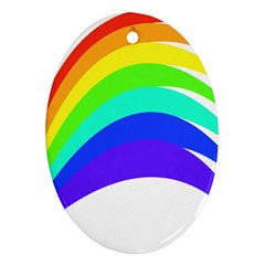 Rainbow Oval Ornament (two Sides) by Jojostore