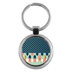 Preppy Personalized Yubo Lunch Box Gold Blue Pink Grey Key Chains (round)  by Jojostore