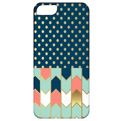 Preppy Personalized Yubo Lunch Box Gold Blue Pink Grey Apple Iphone 5 Classic Hardshell Case by Jojostore