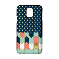 Preppy Personalized Yubo Lunch Box Gold Blue Pink Grey Samsung Galaxy S5 Hardshell Case  by Jojostore
