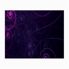 Purple Abstract Spiral Small Glasses Cloth by Jojostore