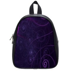 Purple Abstract Spiral School Bags (small)  by Jojostore