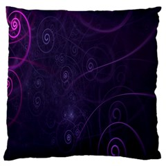 Purple Abstract Spiral Large Cushion Case (one Side) by Jojostore