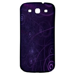 Purple Abstract Spiral Samsung Galaxy S3 S Iii Classic Hardshell Back Case by Jojostore